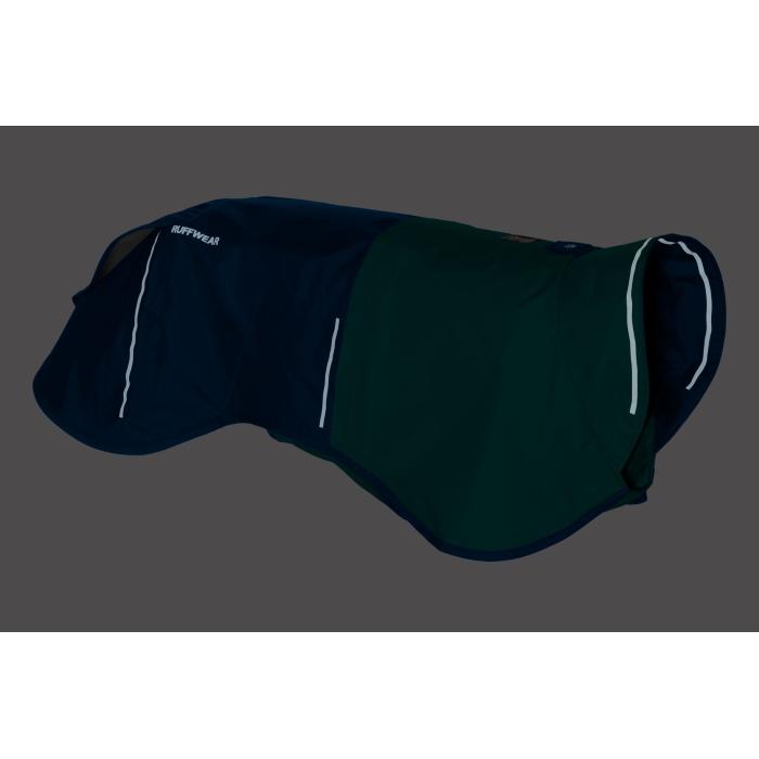 Ruffwear Sun Shower Rain Jacket Blue-Dusk-Right-Reflective
