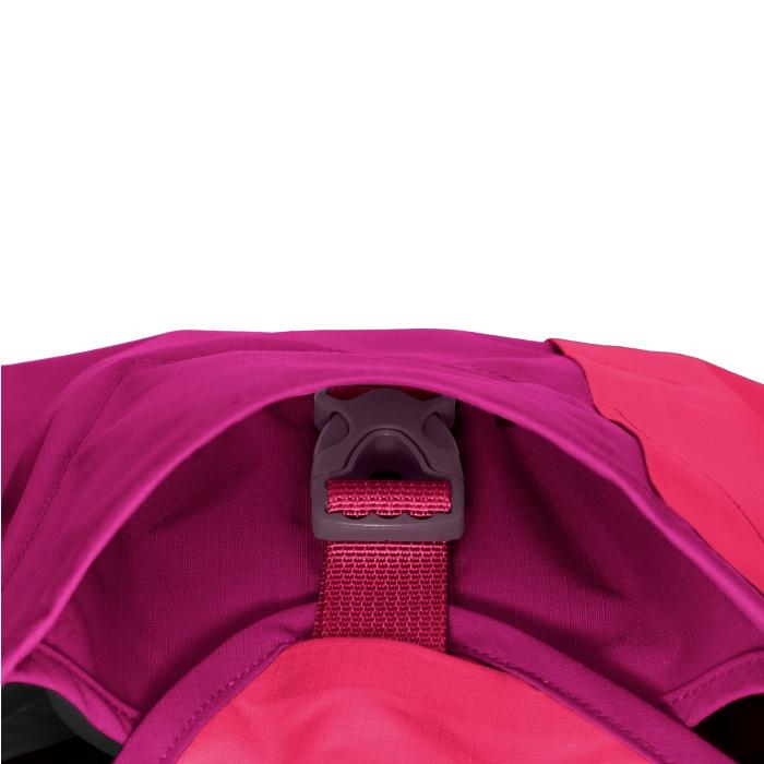 Ruffwear Sun Shower Rain Jacket-Hibiscus-Pink-Buckle-Detail
