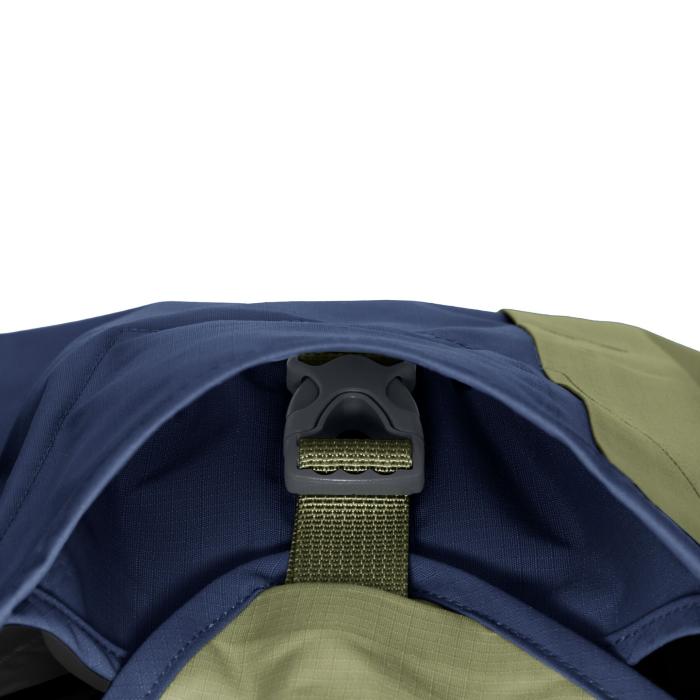 Ruffwear Sun Shower Rain Jacket-Midnight Blue-Buckle-Detail