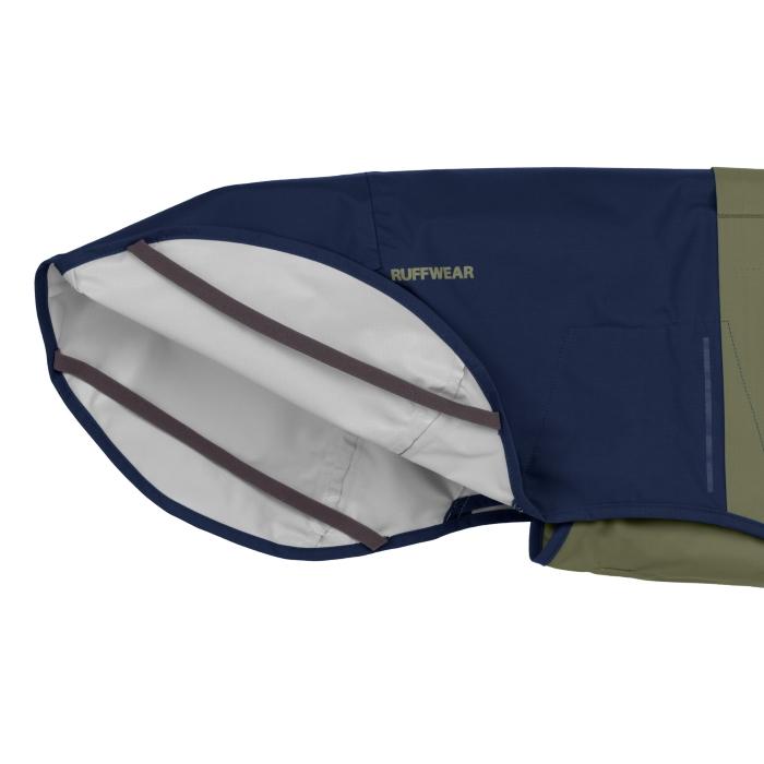 Ruffwear Sun Shower Rain Jacket Midnight-Blue-Leg-Loops