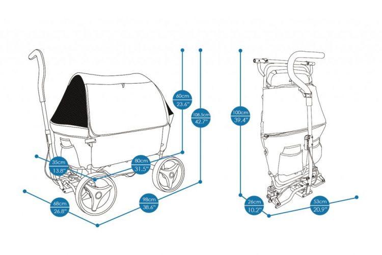 Ibiyaya Beach Wagon dimensions