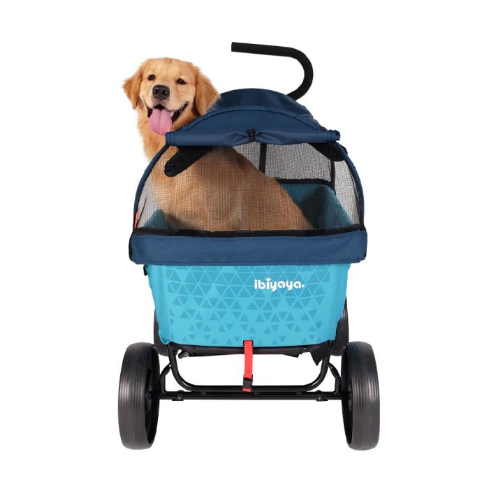Ibiyaya Noah All Round Pet Beach Wagon_Blue_dog