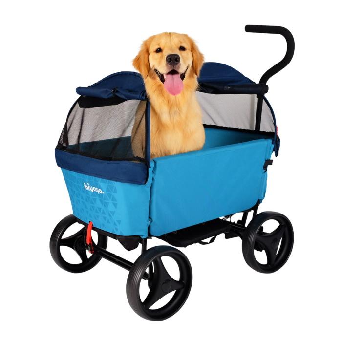 Ibiyaya Noah All Round Pet Beach Wagon_Blue_dog1