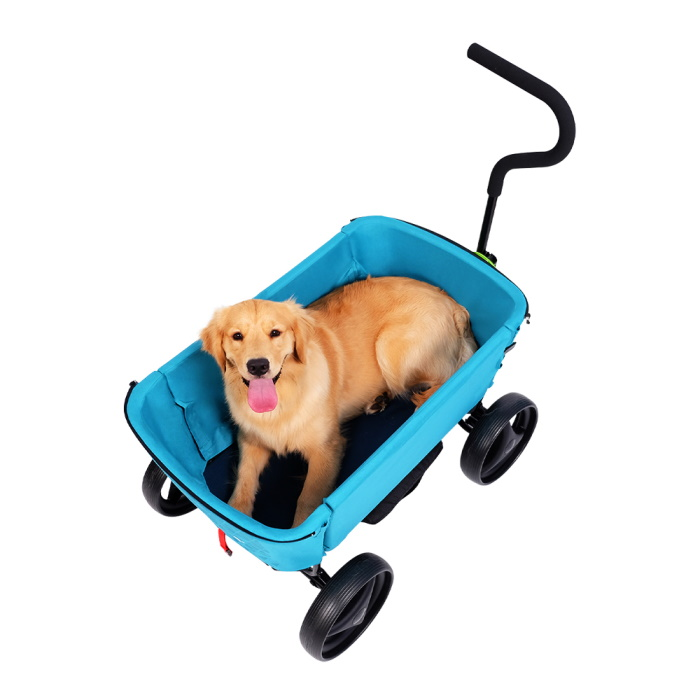 Ibiyaya Noah All Round Pet Beach Wagon_Blue_dog2