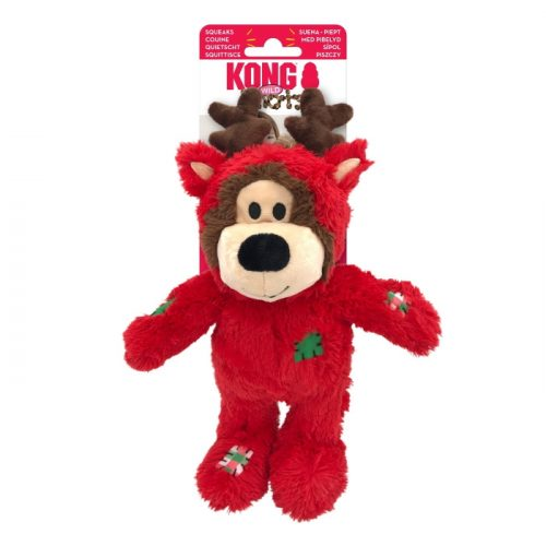 Kong Wild Knots Christmas Bear Red