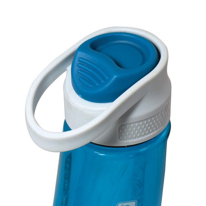 Kurgo Gourd Dog Travel Water Bottle and Bowl_Blue_Lid