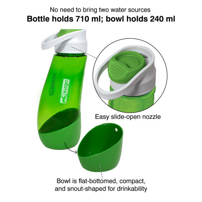 Kurgo Gourd Travel Dog Water Bottle and Bowl_Features