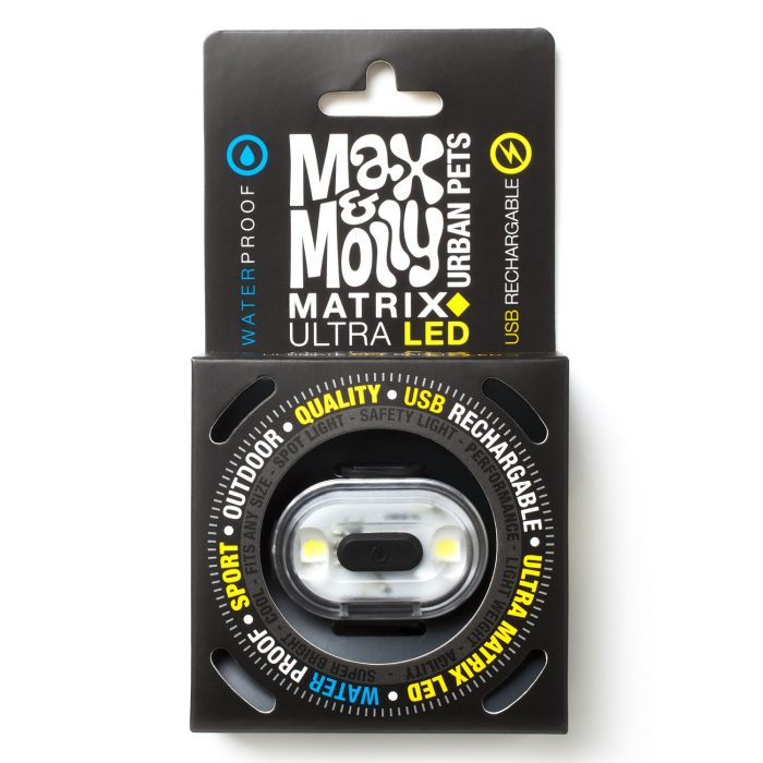 Max & Molly LED Dog Collar Safety Light_Black