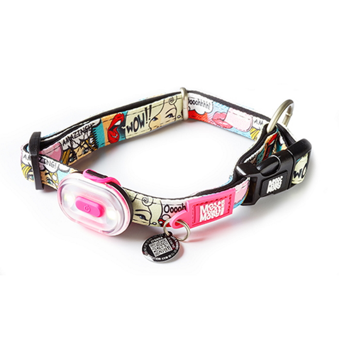 Max and Molly Safety LED Dog Collar Light_LS pink