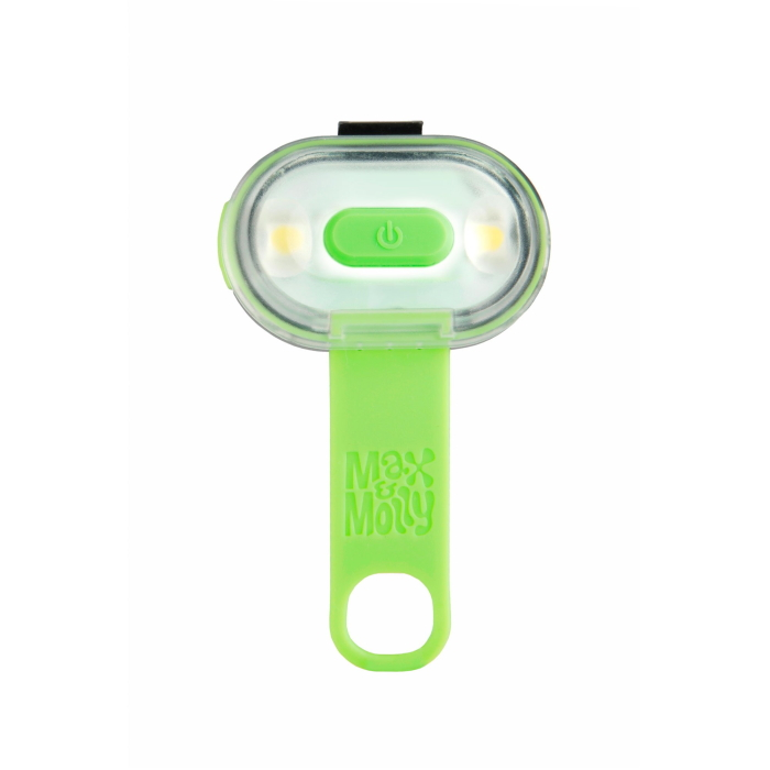 Max and Molly Safety LED Dog Collar Light_green_silicone strap