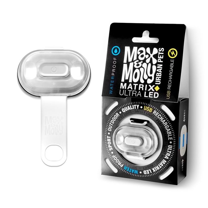 Max and Molly Safety LED Dog Collar Light_white