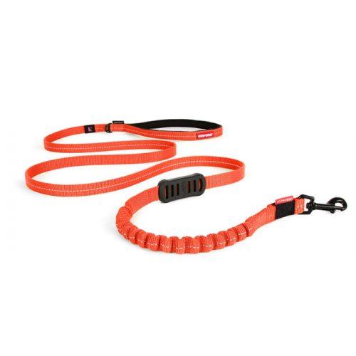 EzyDog Zero Shock Dog Leash LITE Orange